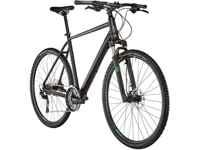 Cube Cross Hybridcykel sort | City-cykler